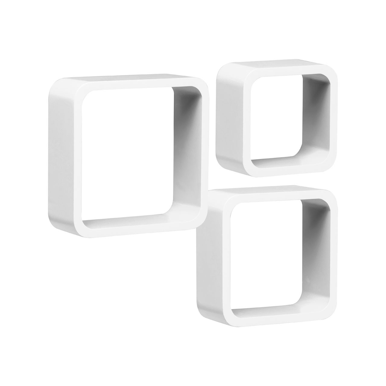 Wall Cubes, Set of 3, White