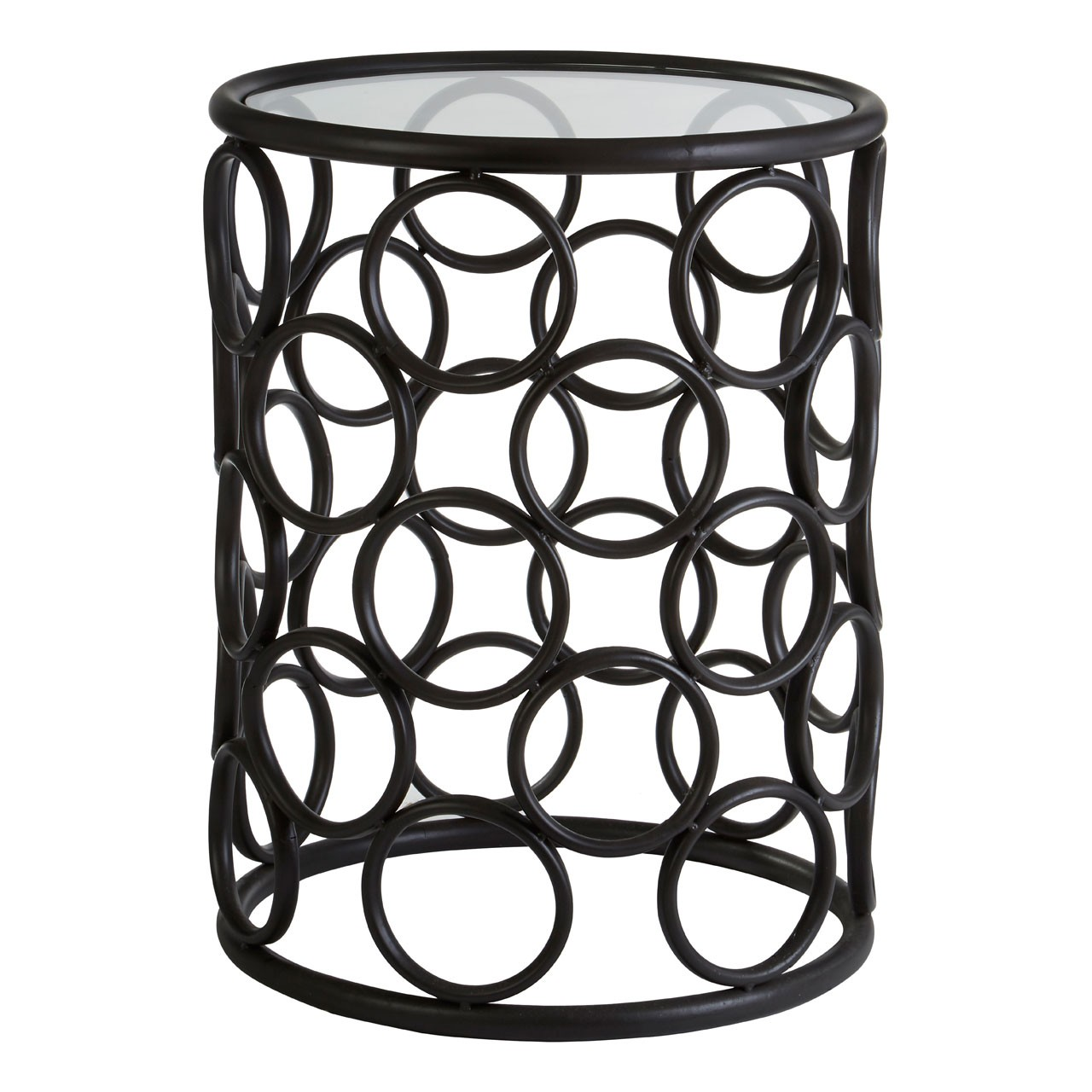 Antalya Round Side Table - Black