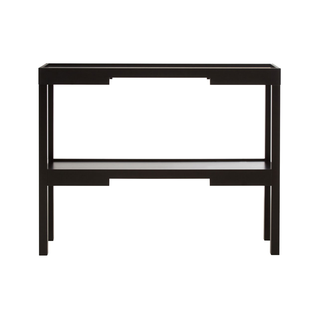 Osaka Console Table Black MDF With Shelf For Home Office