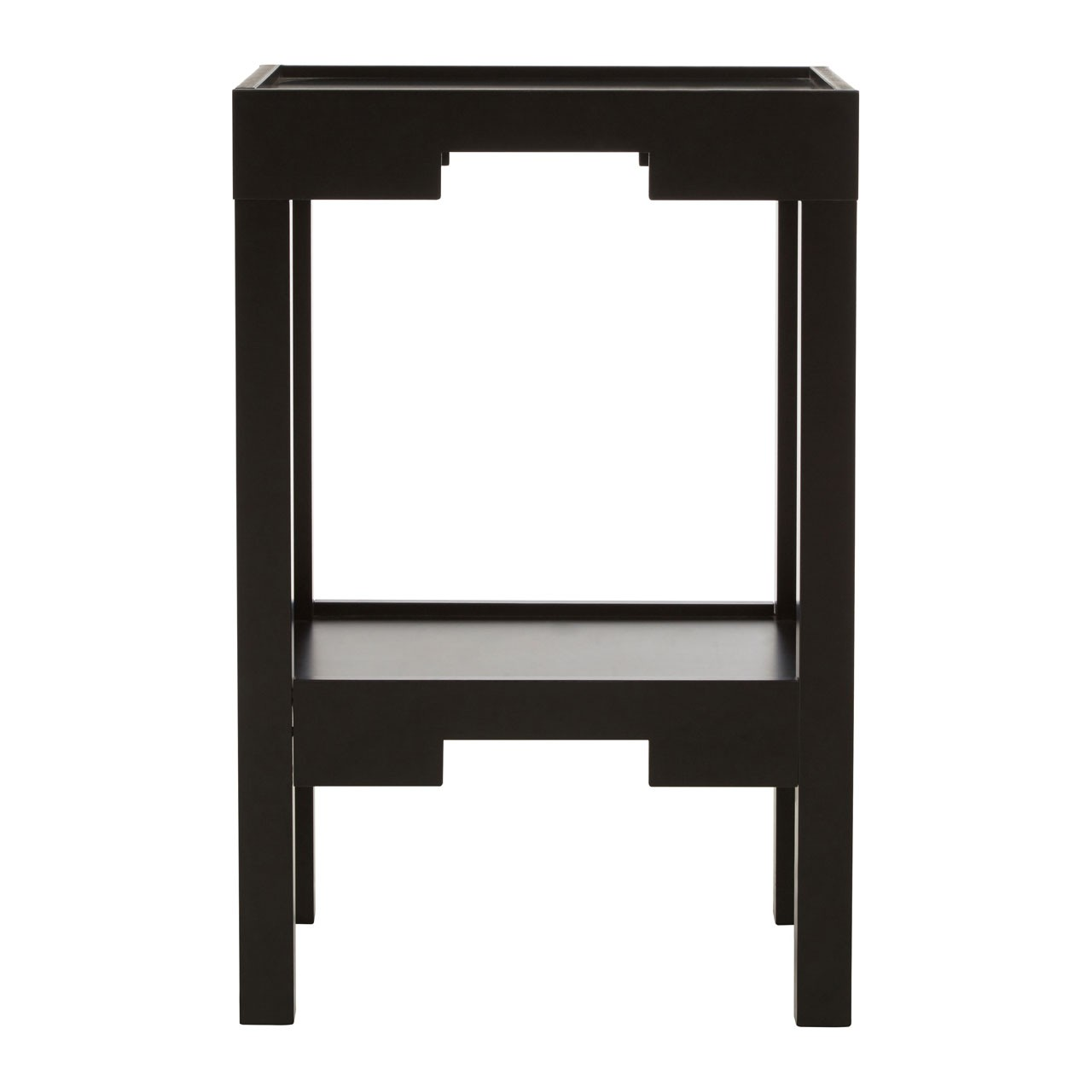 Osaka Corner Table Black MDF With Shelf