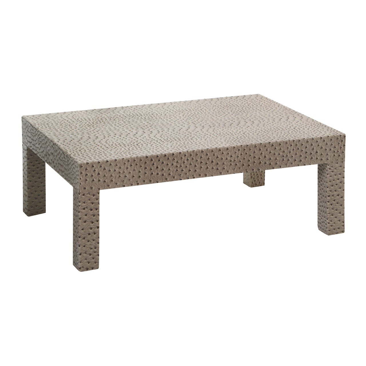 Coffee Table MDF/Ostrich Leather Effect (PU) Fully Assembled