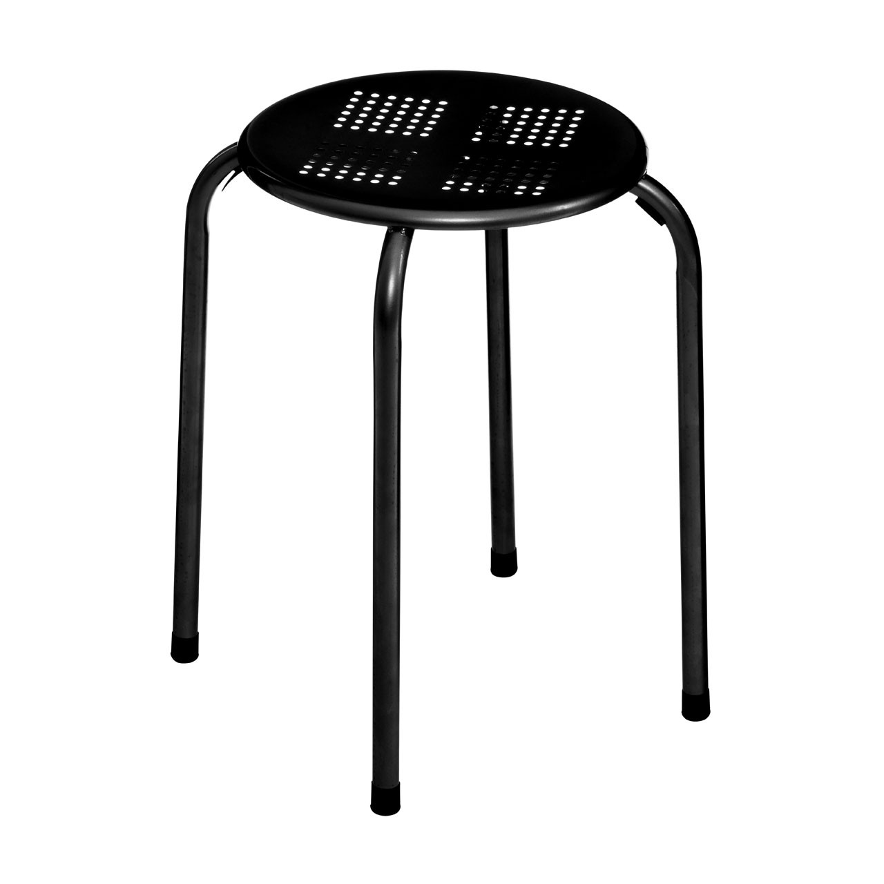 Stacking Stool, Metal - Black