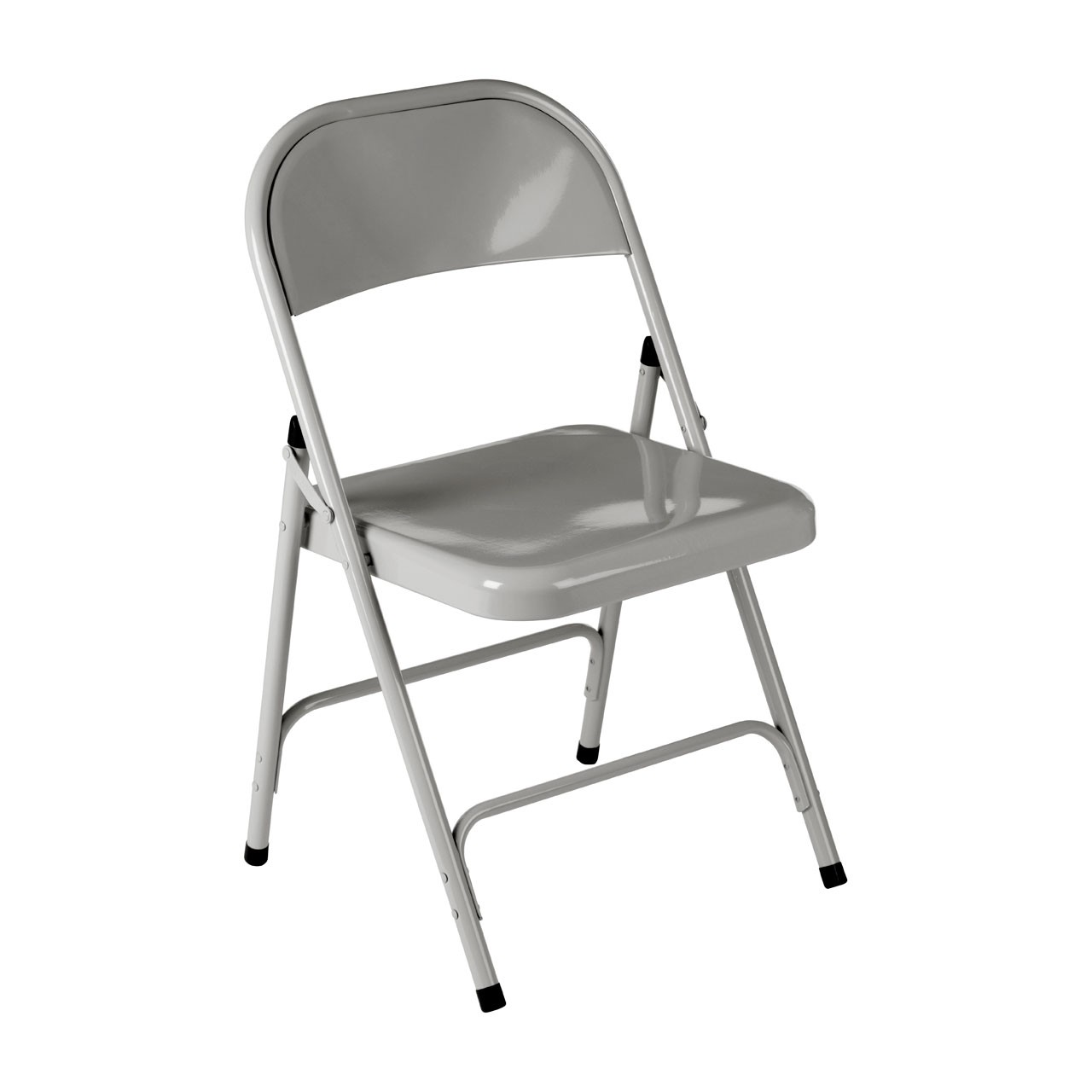 2 x Folding Chair, Grey, Metal