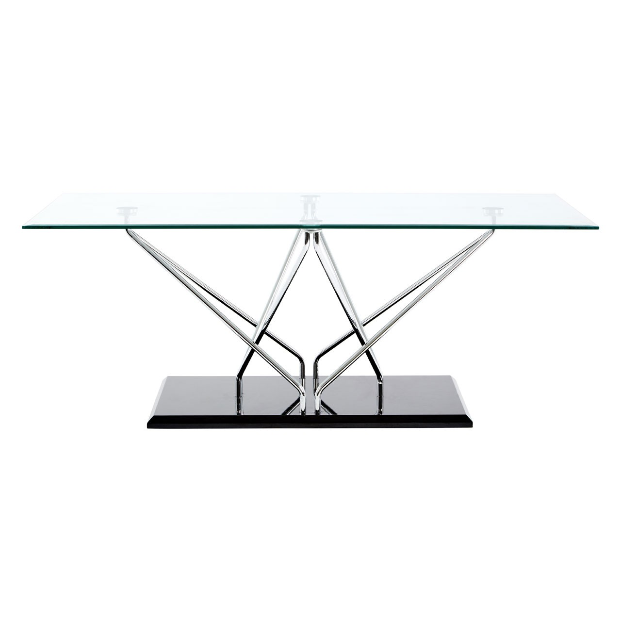 Halo Console Table, Glass - Black