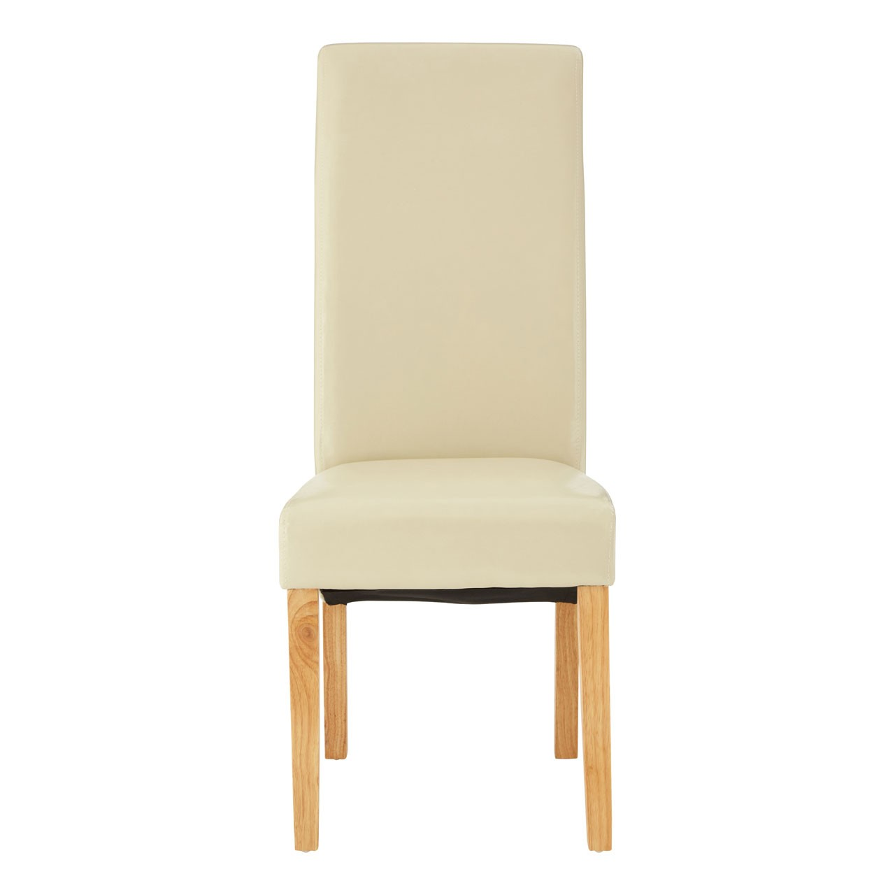 Hertford Chairs - Cream Leather Effect - Set of 2