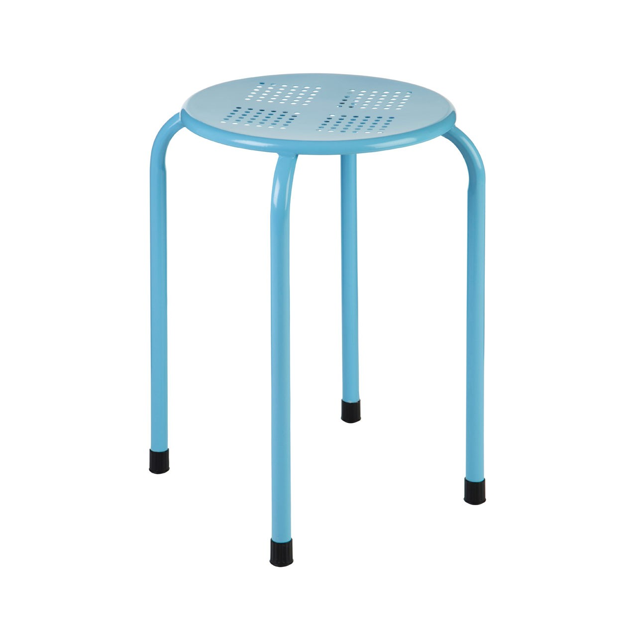 Stacking Stool, Metal - Blue