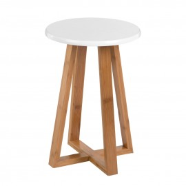 Viborg Round Stool For Everyday Use White Seat