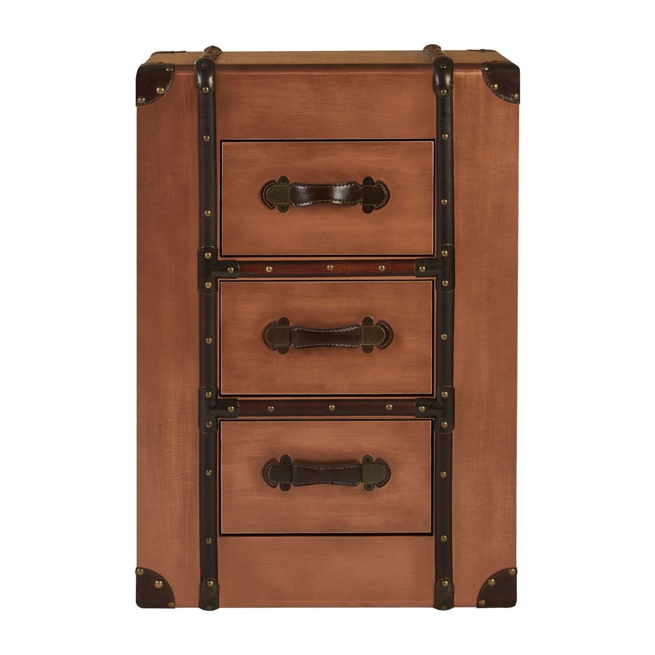 Navigator 3- Drawer Chest - Copper, Wood