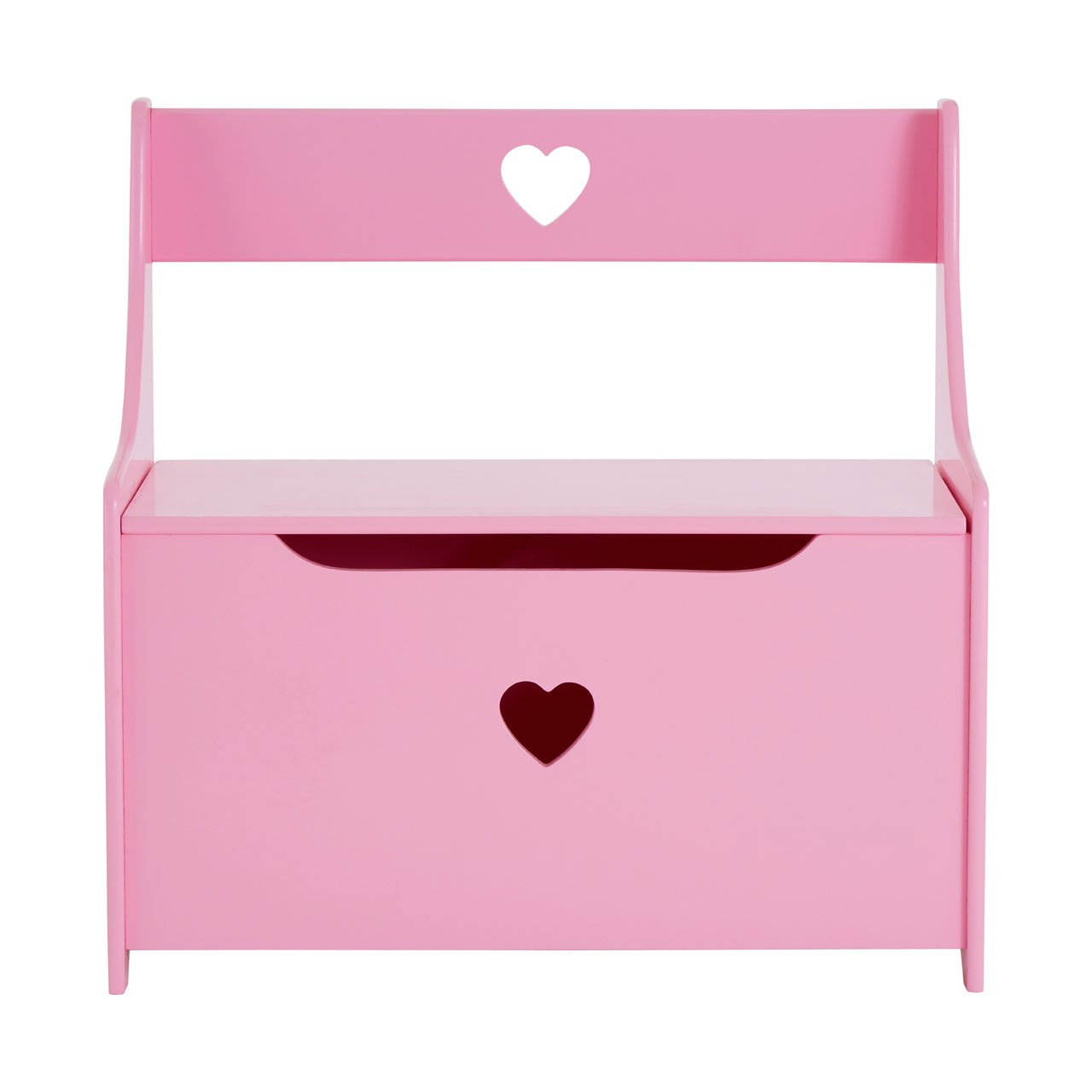 Prime Furnishing Heart Design Kids Storage Box, MDF - Pink