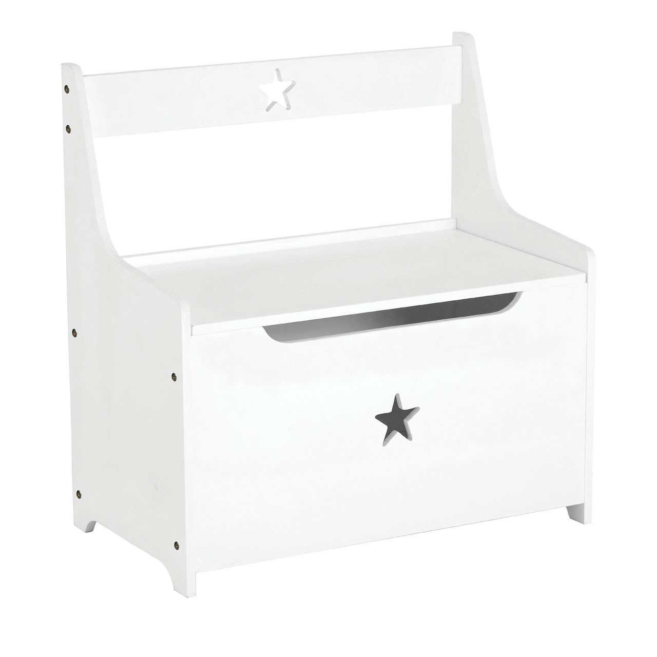 Prime Furnishing Star Design Kids Storage Box, MDF - White