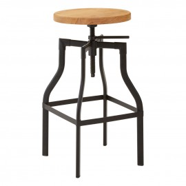 New Foundry Bar Stool Adjustable Height Stylish Practical