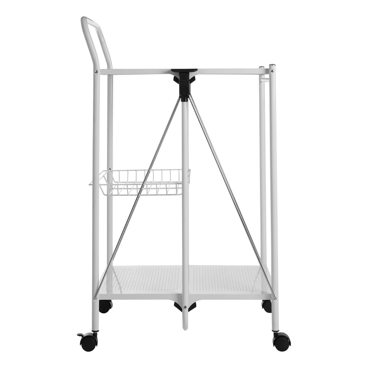 Folding Kitchen Trolley - Black