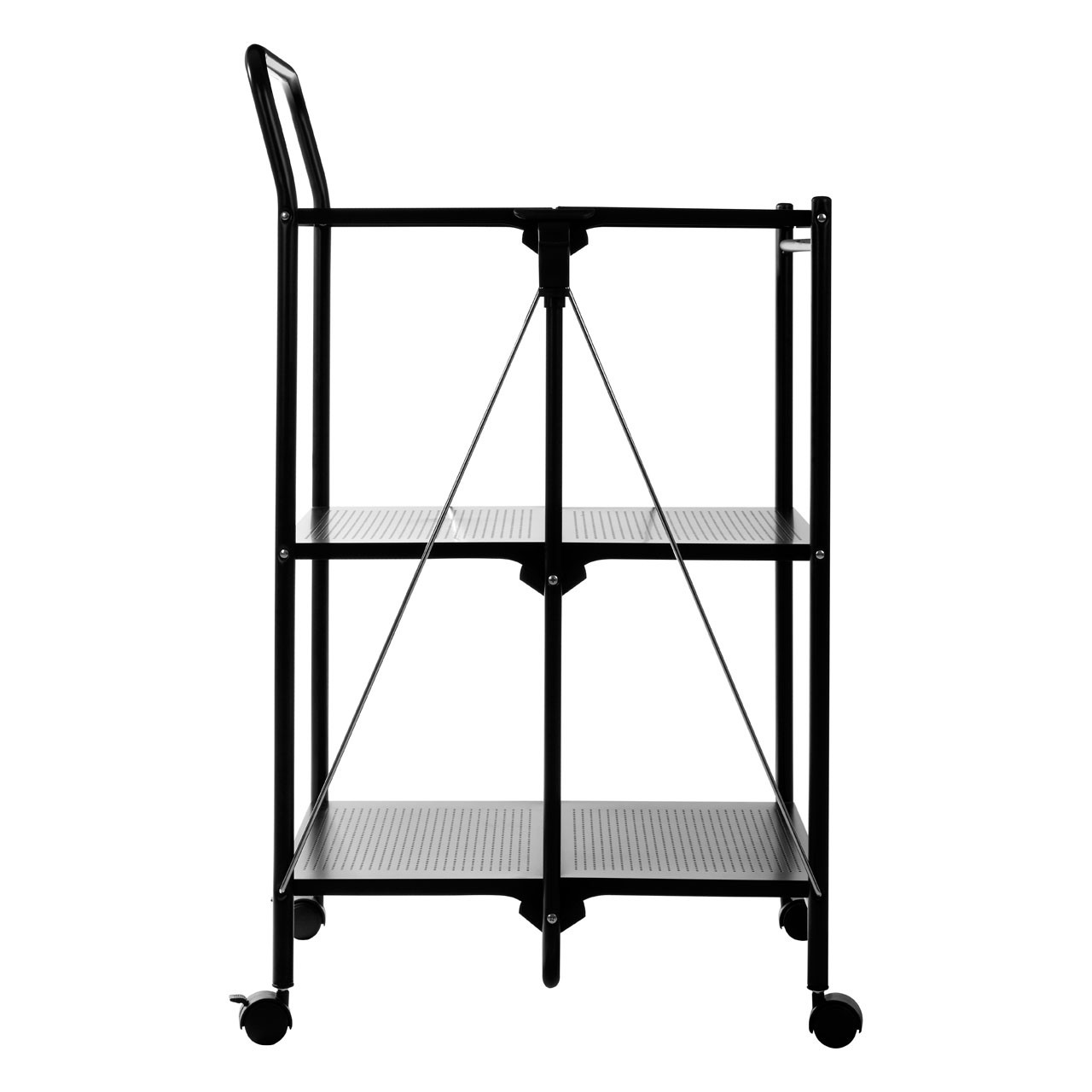 Folding Kitchen Trolley - White