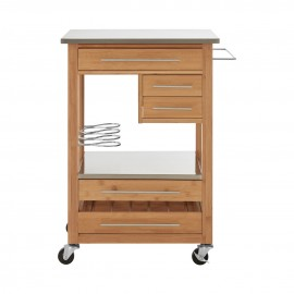 kitchen trolley an upstanding bottle rack four drawers
