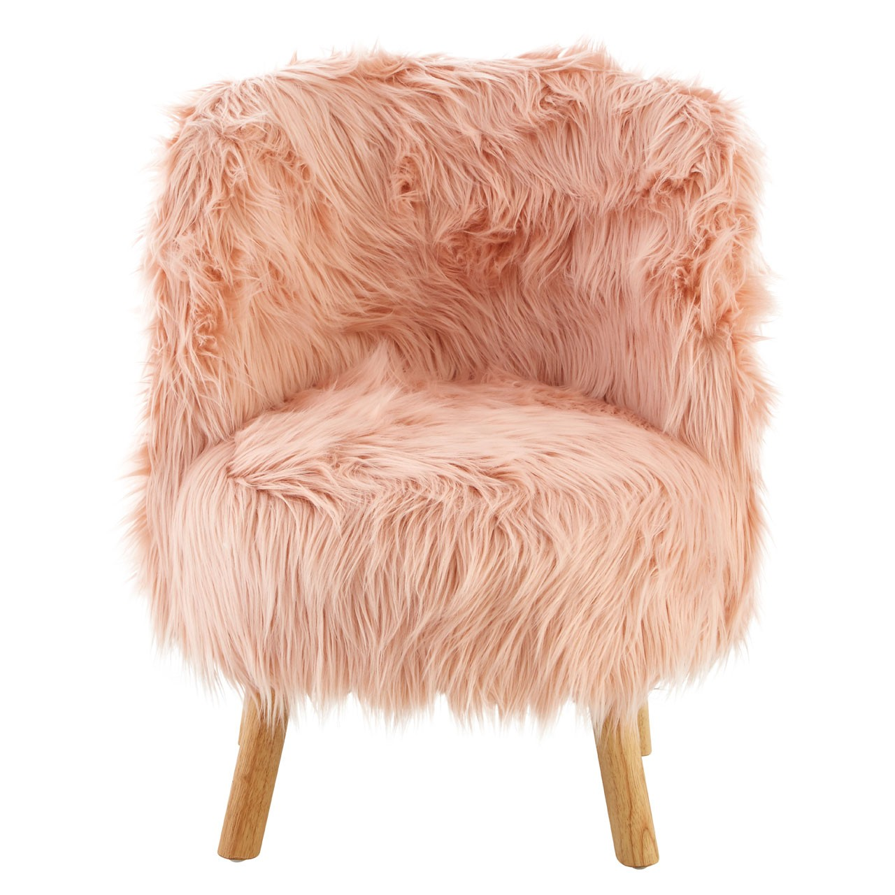 Kids Pink Faux Fur Chair Ideal Gift
