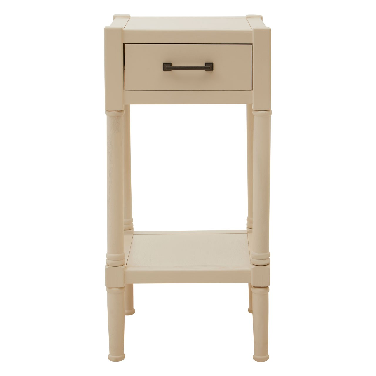 Heritage Pearl White Finish Accent Table