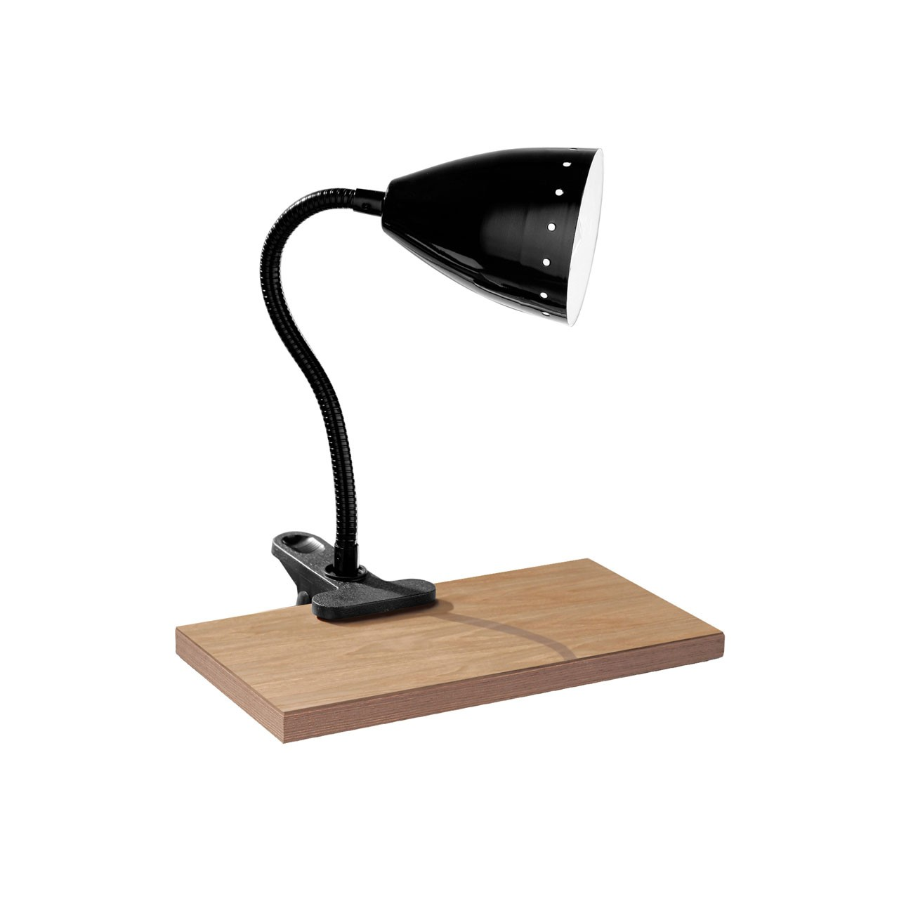 Clip Desk Lamp with Dot Design - Black