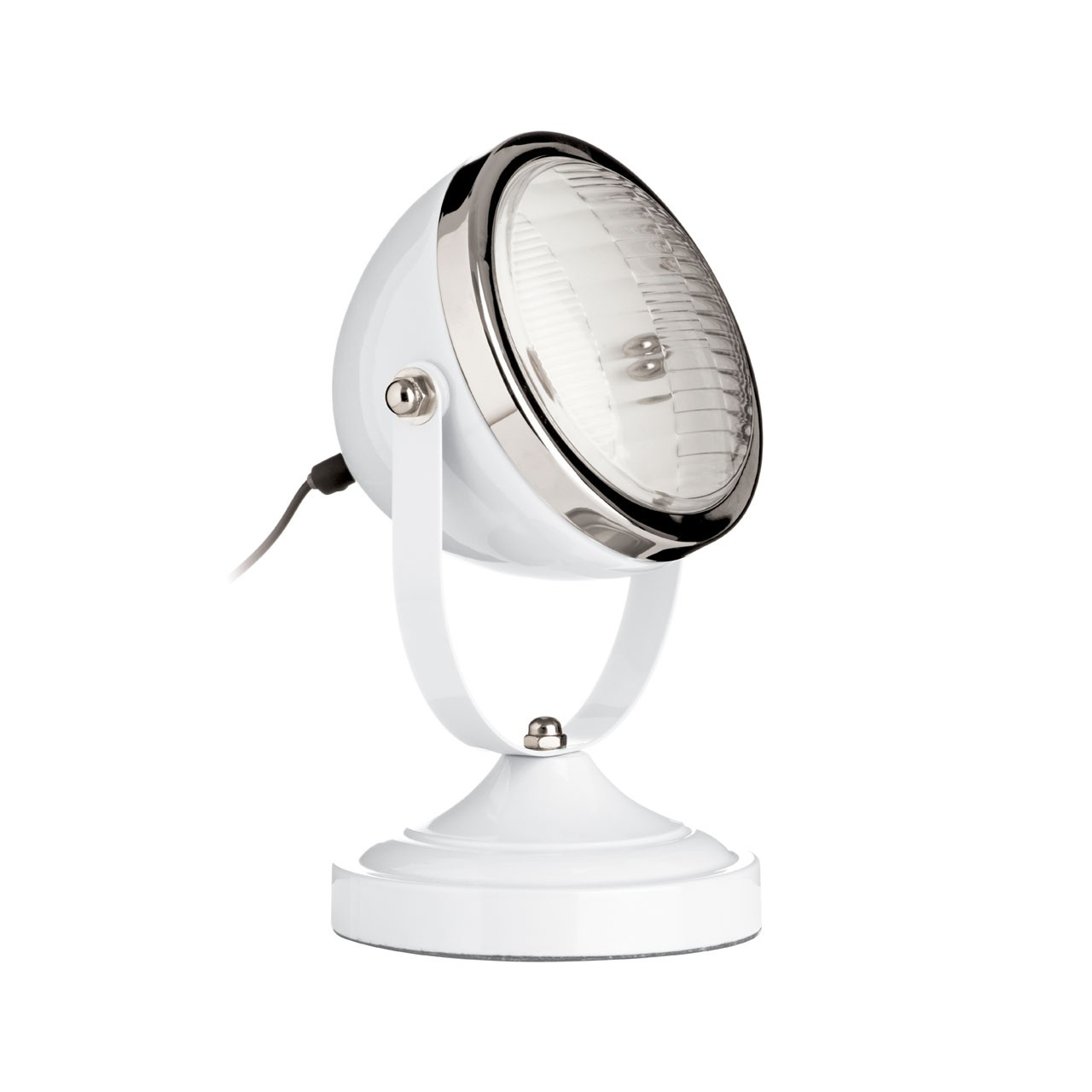 Prime Furnishing Chrome Spotlight Table Lamp - White