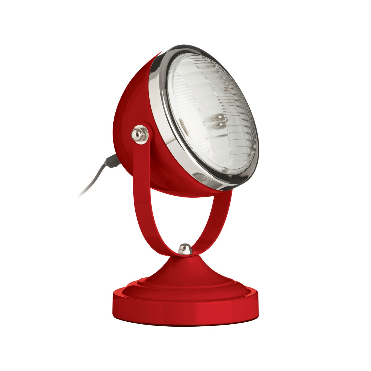 Prime Furnishing Chrome Spotlight Table Lamp-- Red