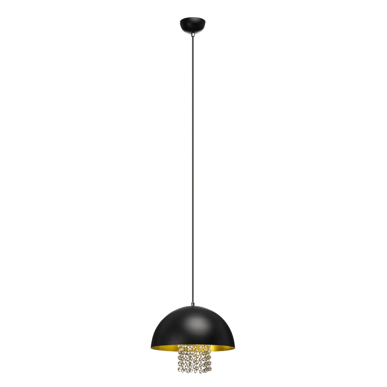 Prime Furnishing Pendant Light with Crystals - Black