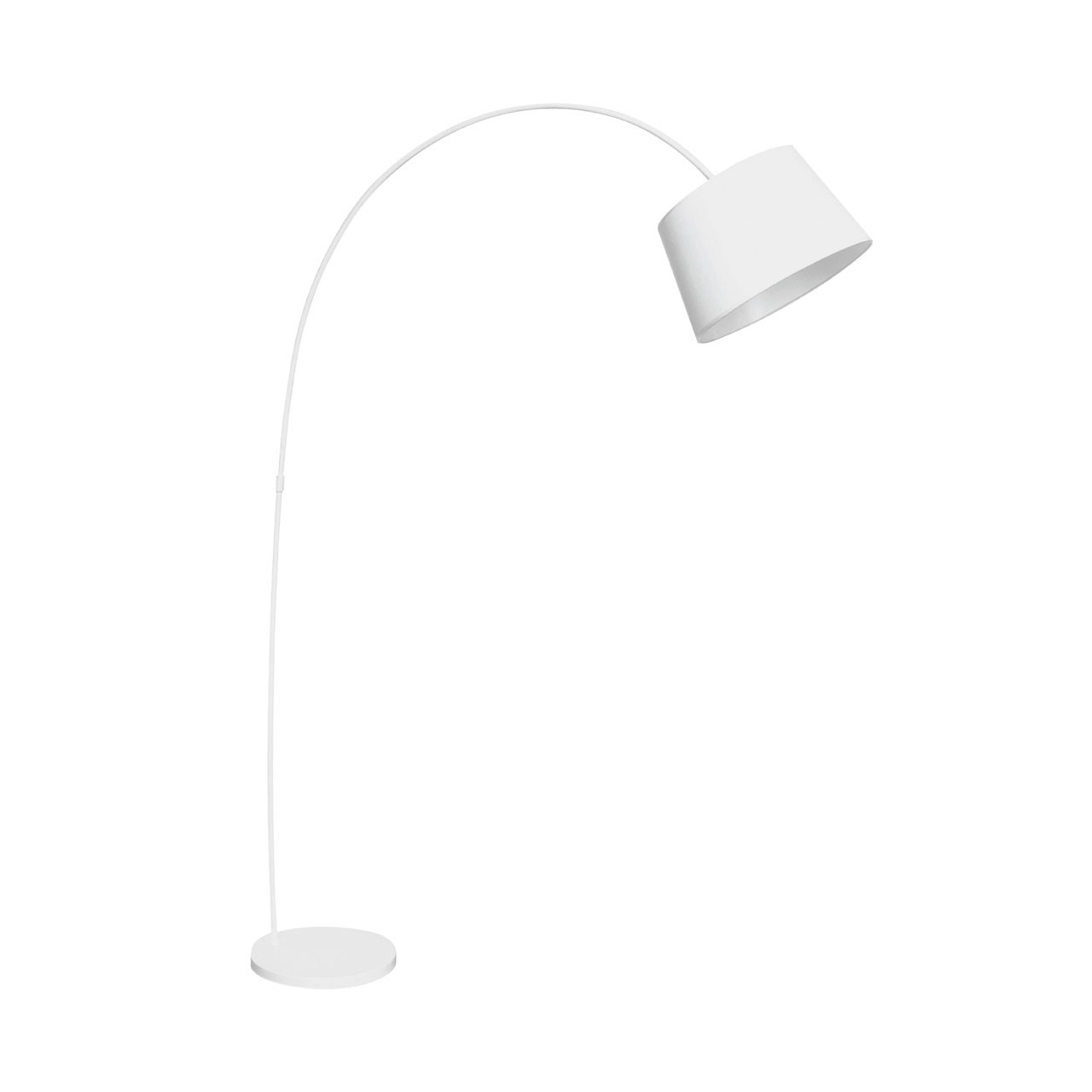 Prime Furnishing Arched Metal Floor Lamp - White