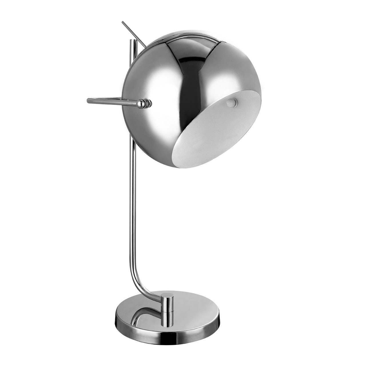 Prime Furnishing E27 Edison Screw 60 W Table Lamp - Chrome