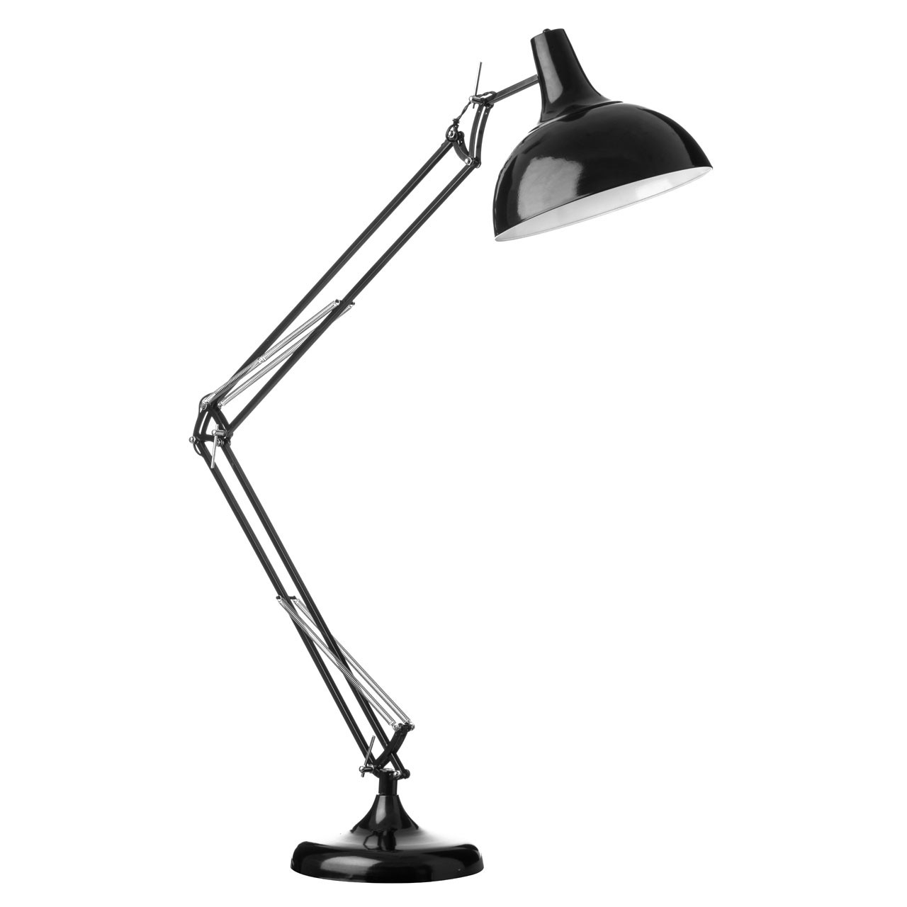 Prime Furnishing Adjustable Floor Lamp, Metal - Black