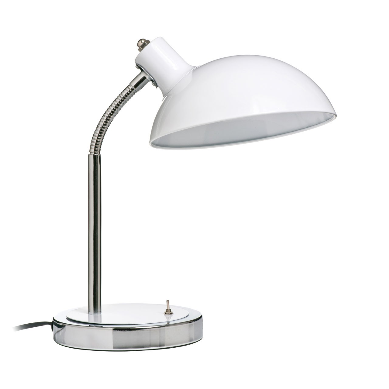 Prime Furnishing Flexible Metal Desk Lamp - White