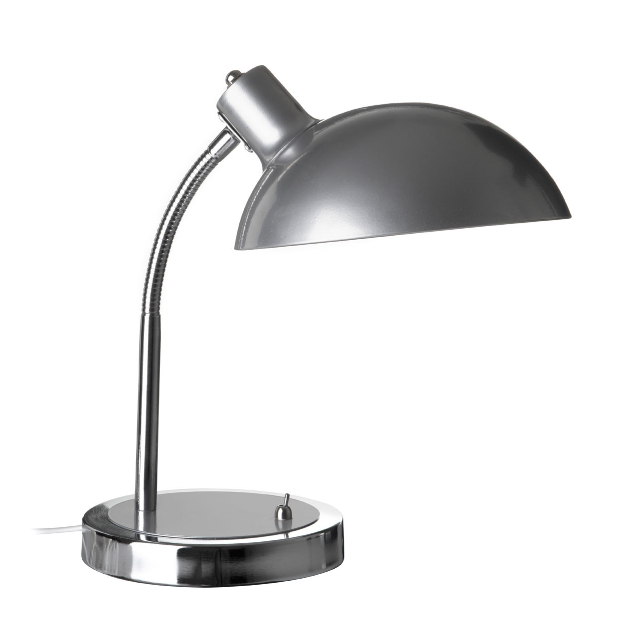 Prime Furnishing Flexible Metal Desk Lamp - Silver
