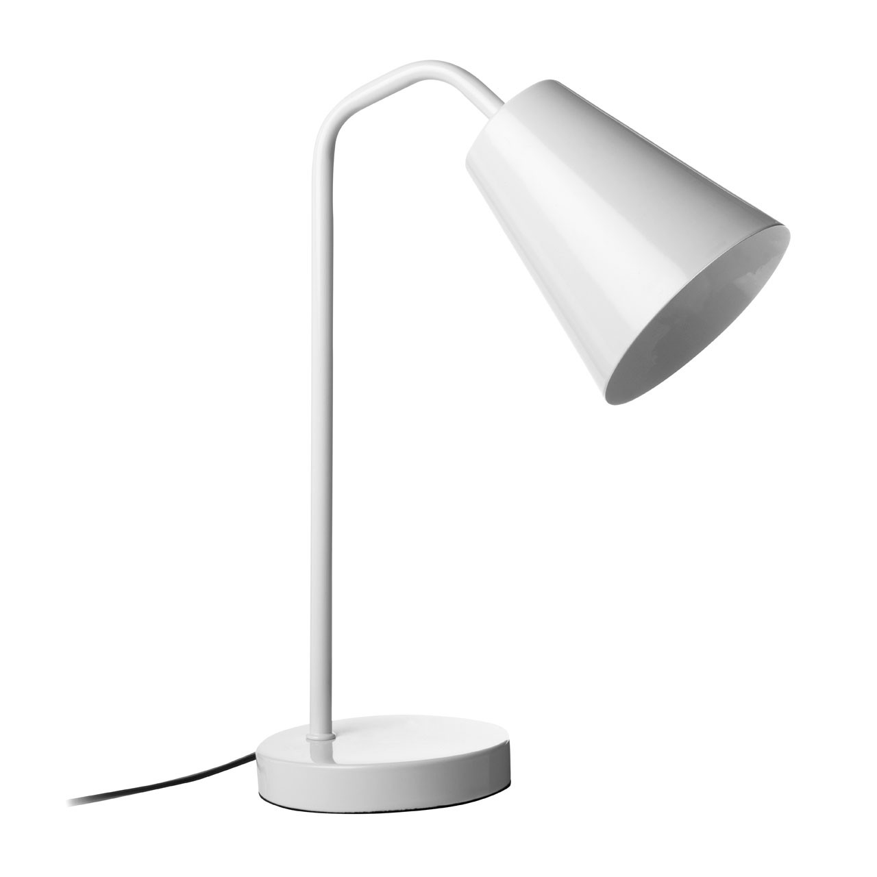 Prime Furnishing Flexible Modern Desk Lamp, Metal - White