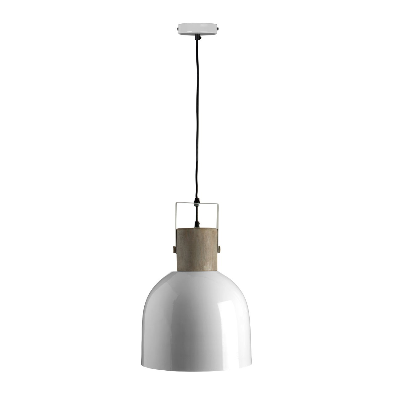 Prime Furnishing Pendant Light, Mild Steel White