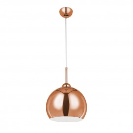 Contemporary Pendant Light Copper Ball Design Shade
