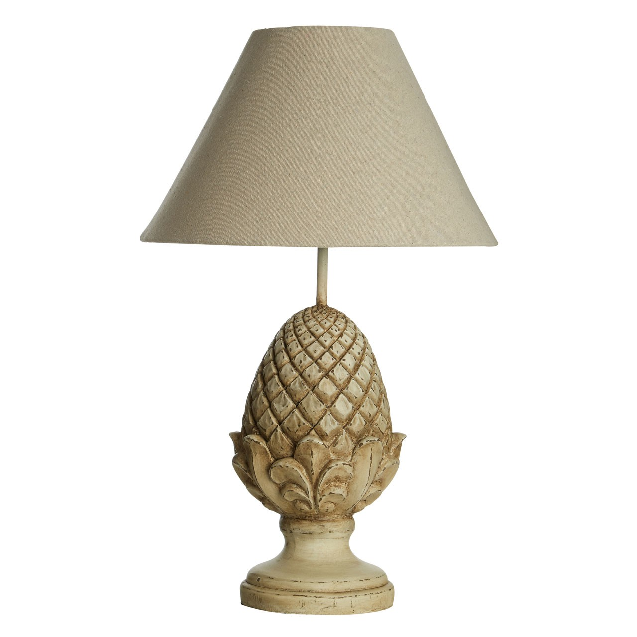 Prime Furnishing Acorn Table Lamp with Resin Base - Natural