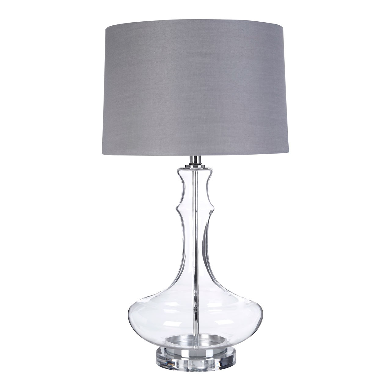 Prime Furnishing Areli Table Lamp - Glass/Metal Base,Linen Shade