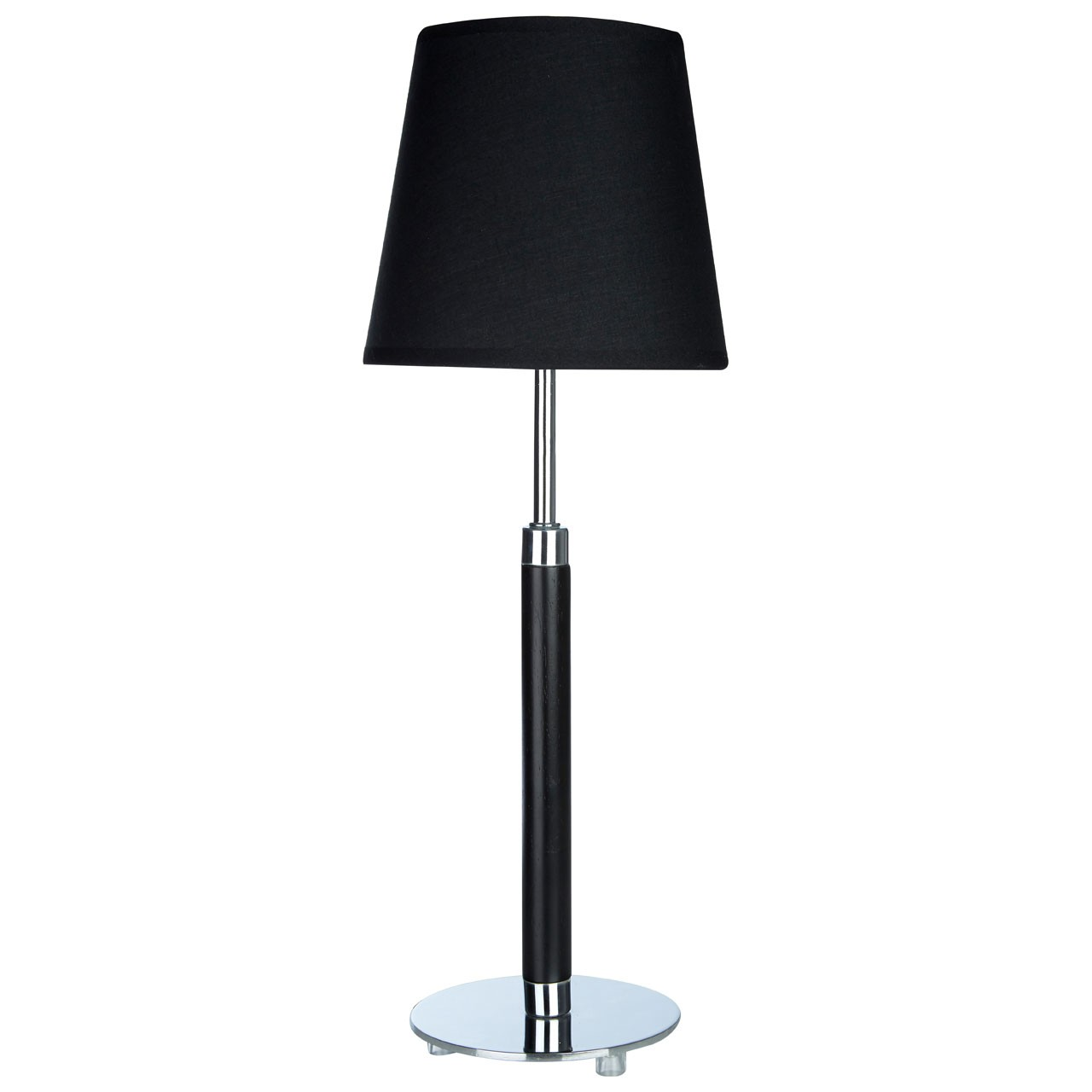 Prime Furnishing Whitney Table Lamp, Chrome - Black