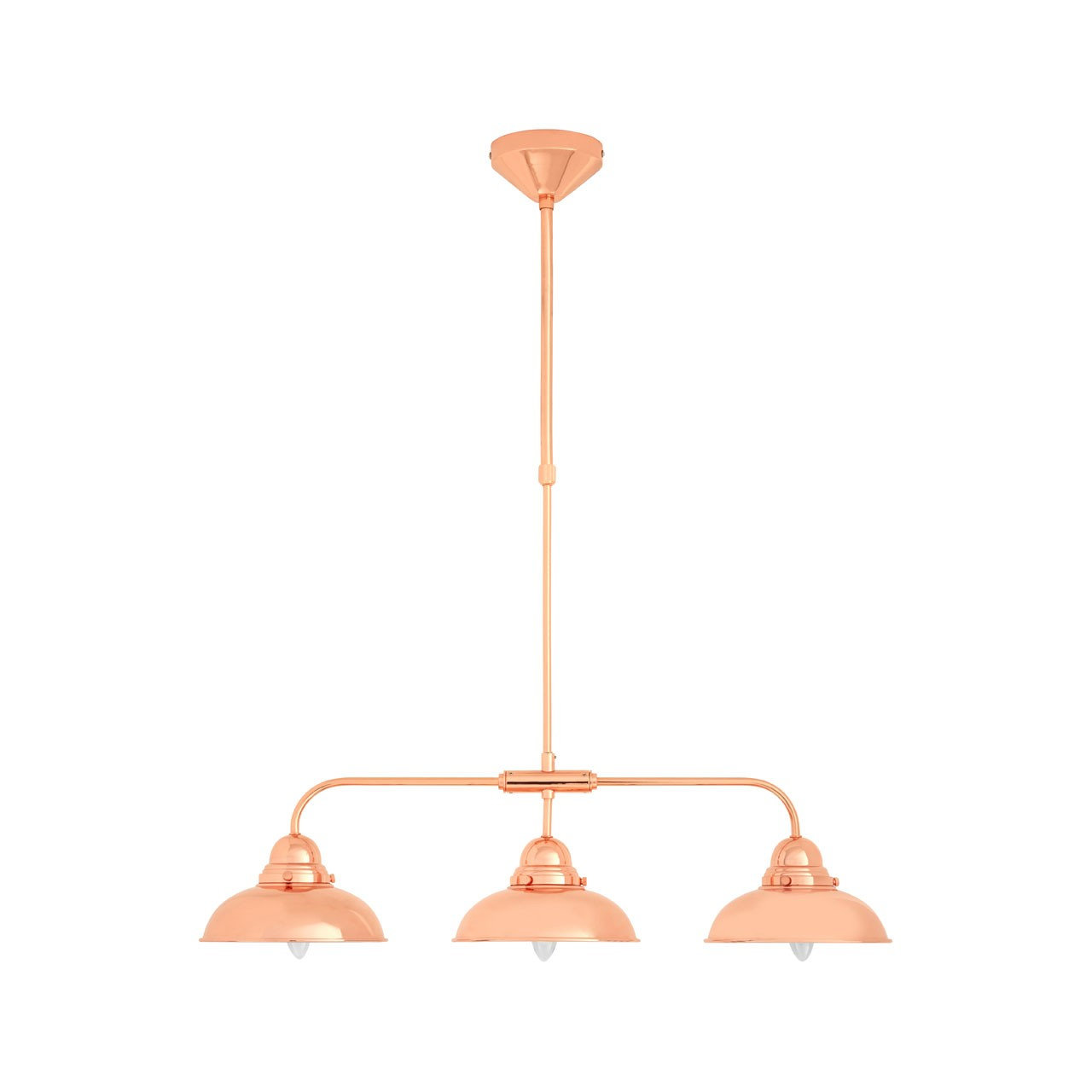 Prime Furnishing Jasper 3 Pendant Light Copper Finish