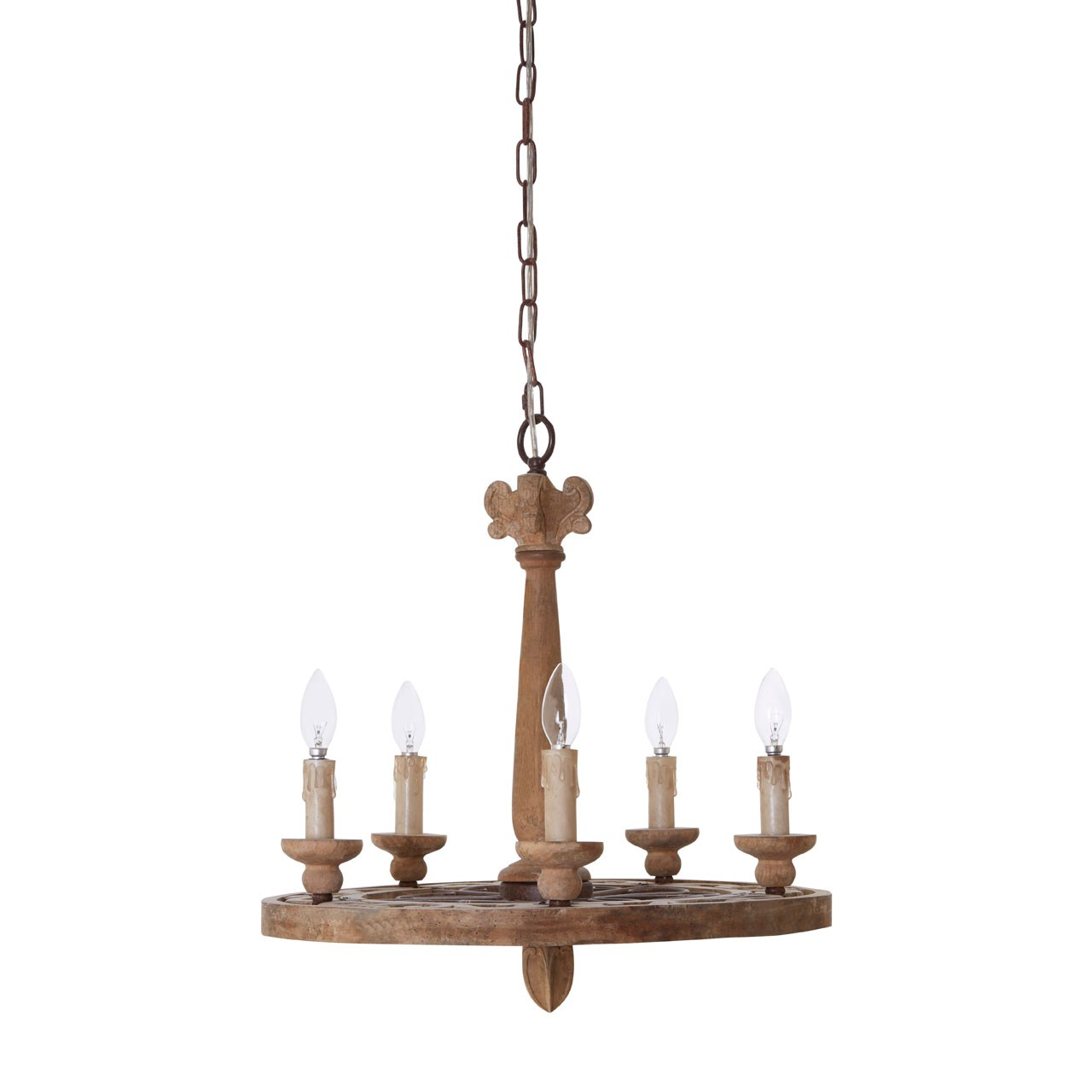 Prime Furnishing Brown Paxton Chandelier