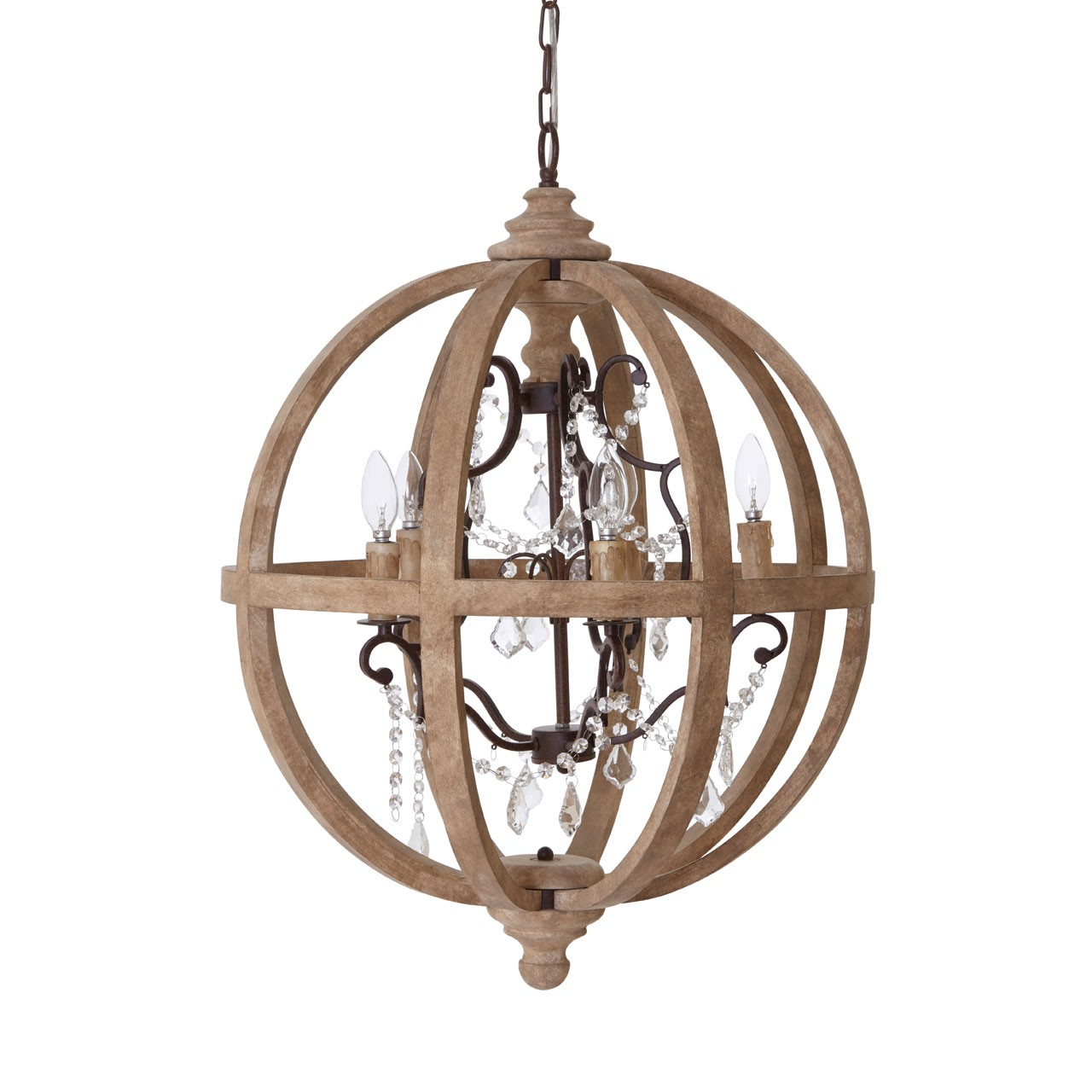 Prime Furnishing Brown Pia Chandelier
