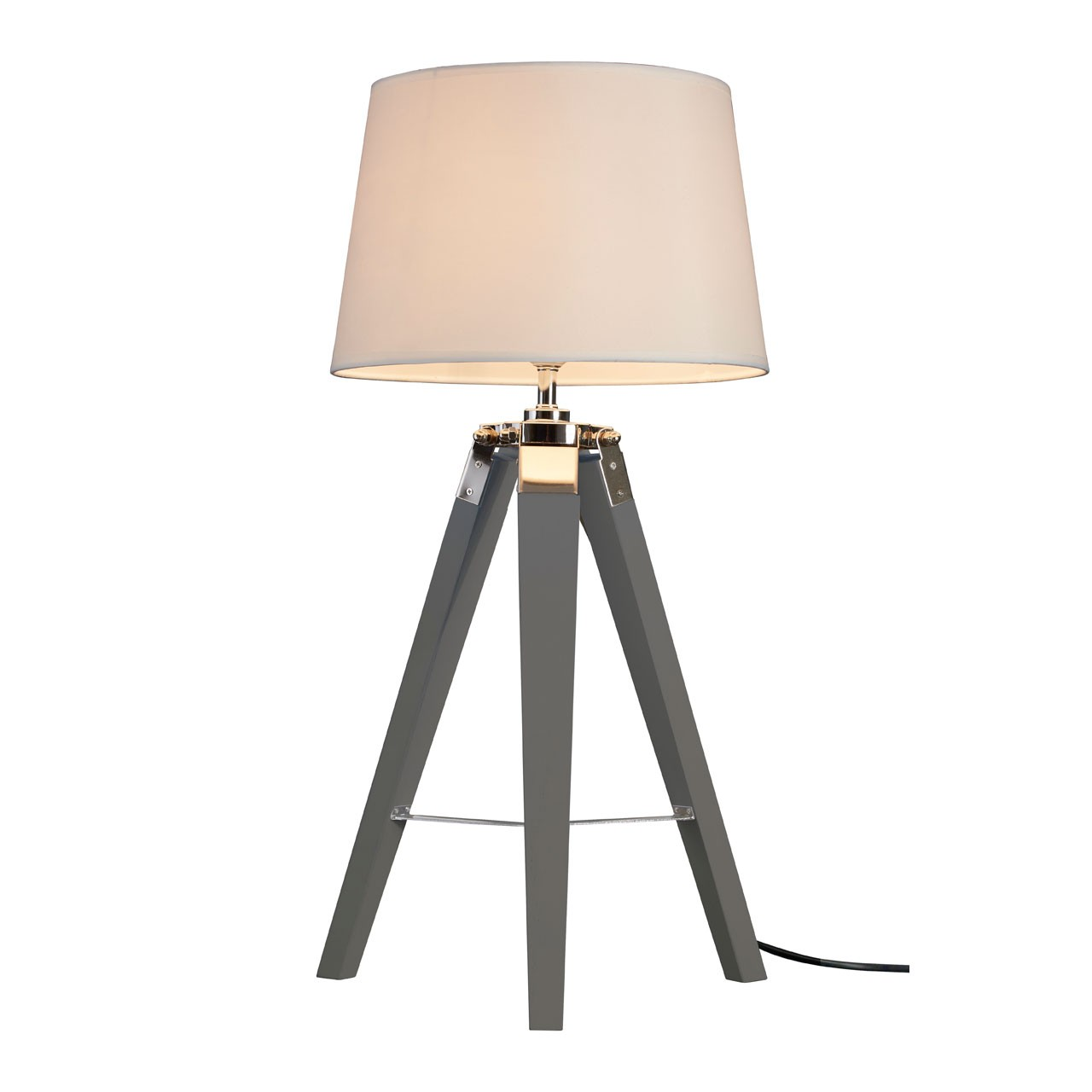 Bailey Tripod Table Lamp Natural Coloured Fabric Shade
