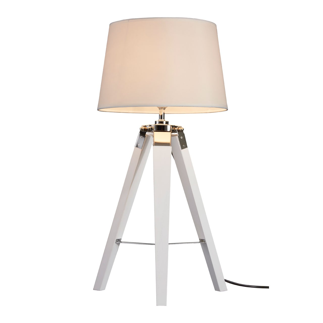 Bailey Tripod Table Lamp Crisp White Finish