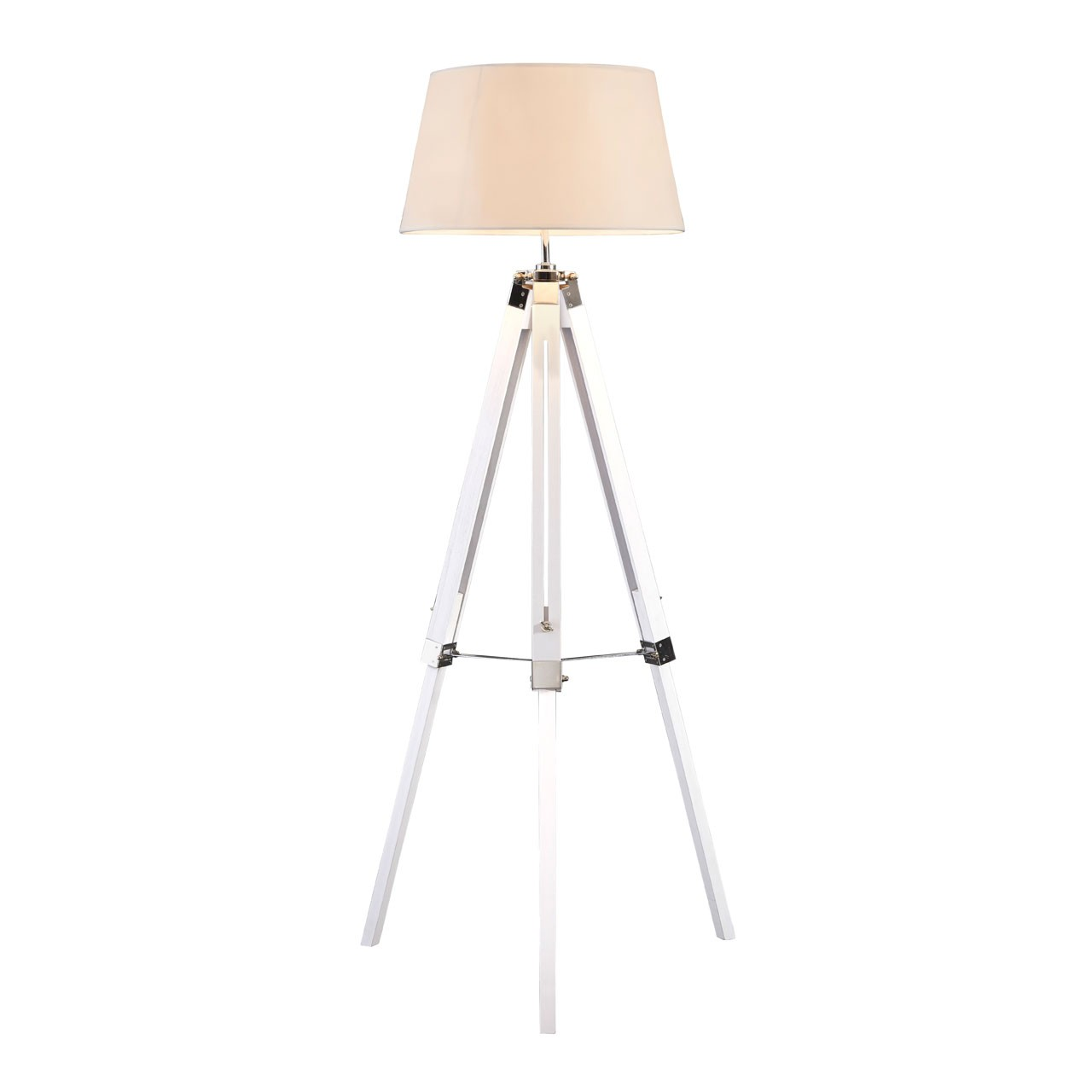 White Bailey Tripod Floor Eye-catching Contemporary Lamp