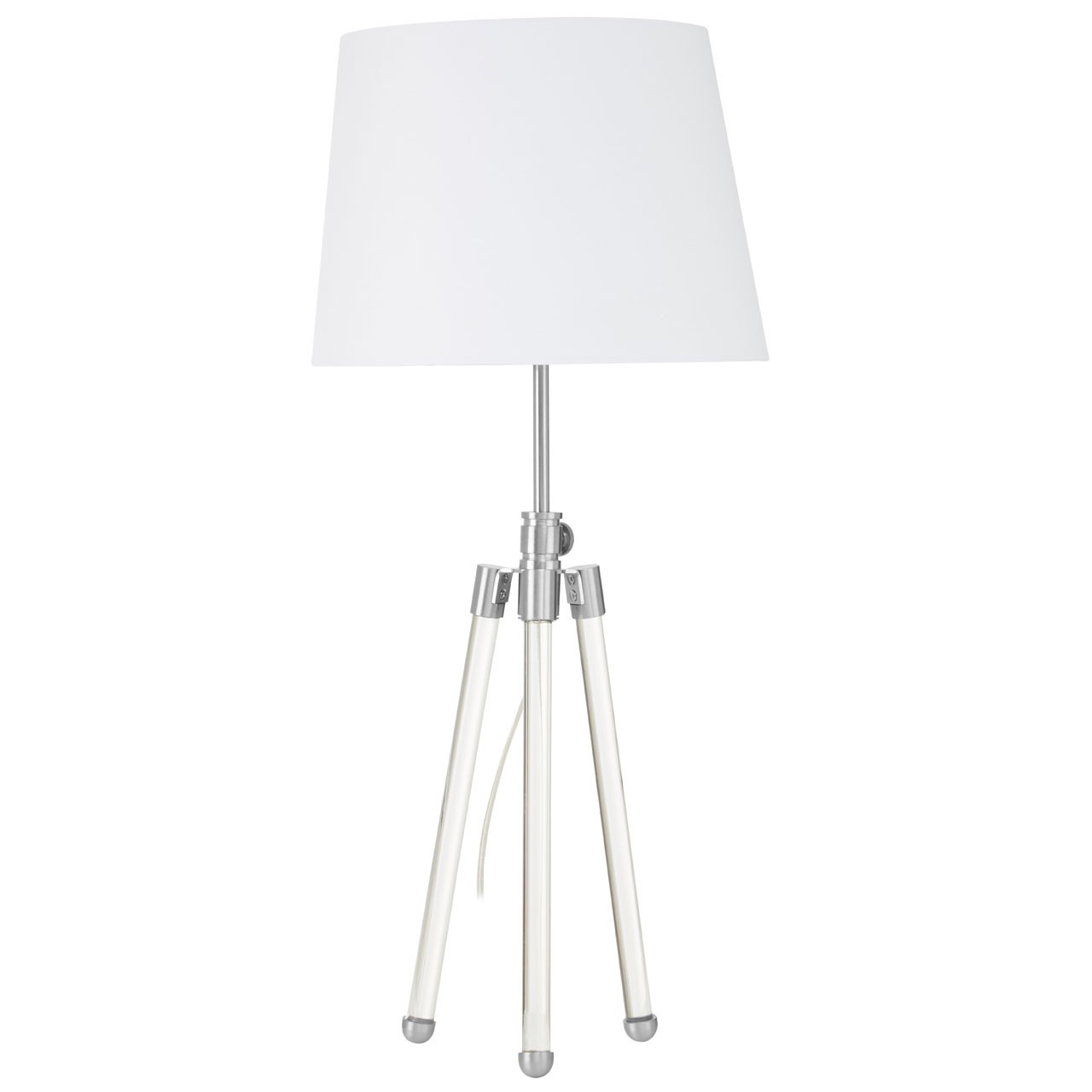 Halia Nickel Finish Table Lamp
