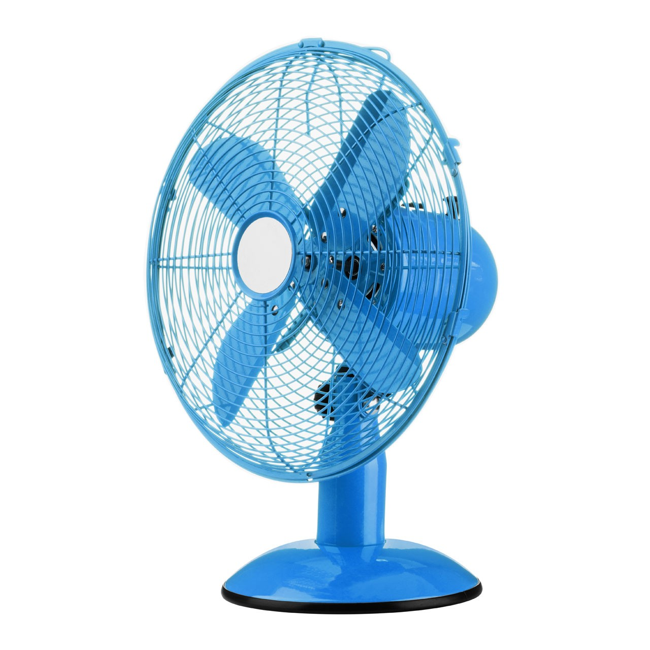 Desk Fan with 3 Speeds/ Oscillation, Blue