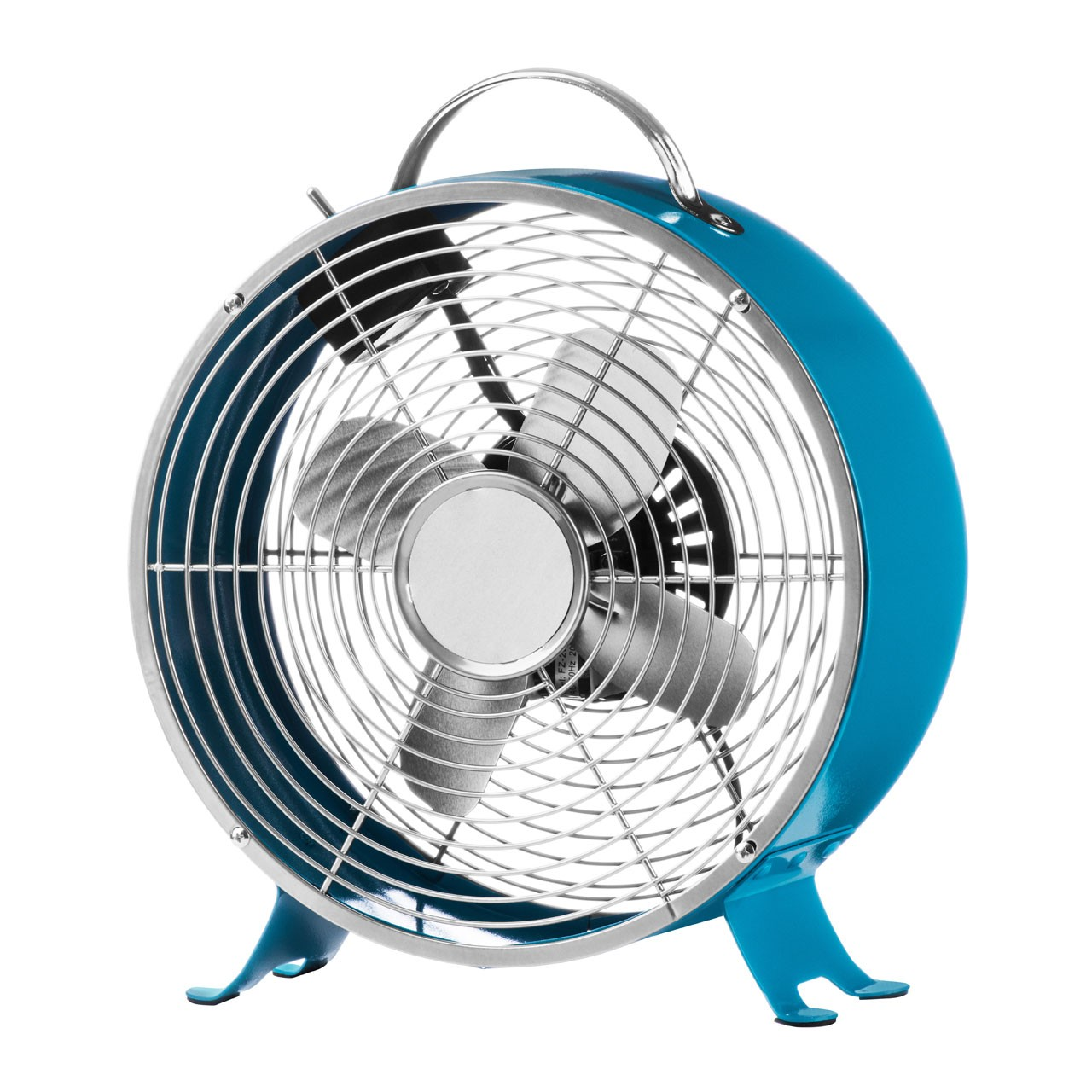 Retro Desk Fan with 2-Speeds, Blue