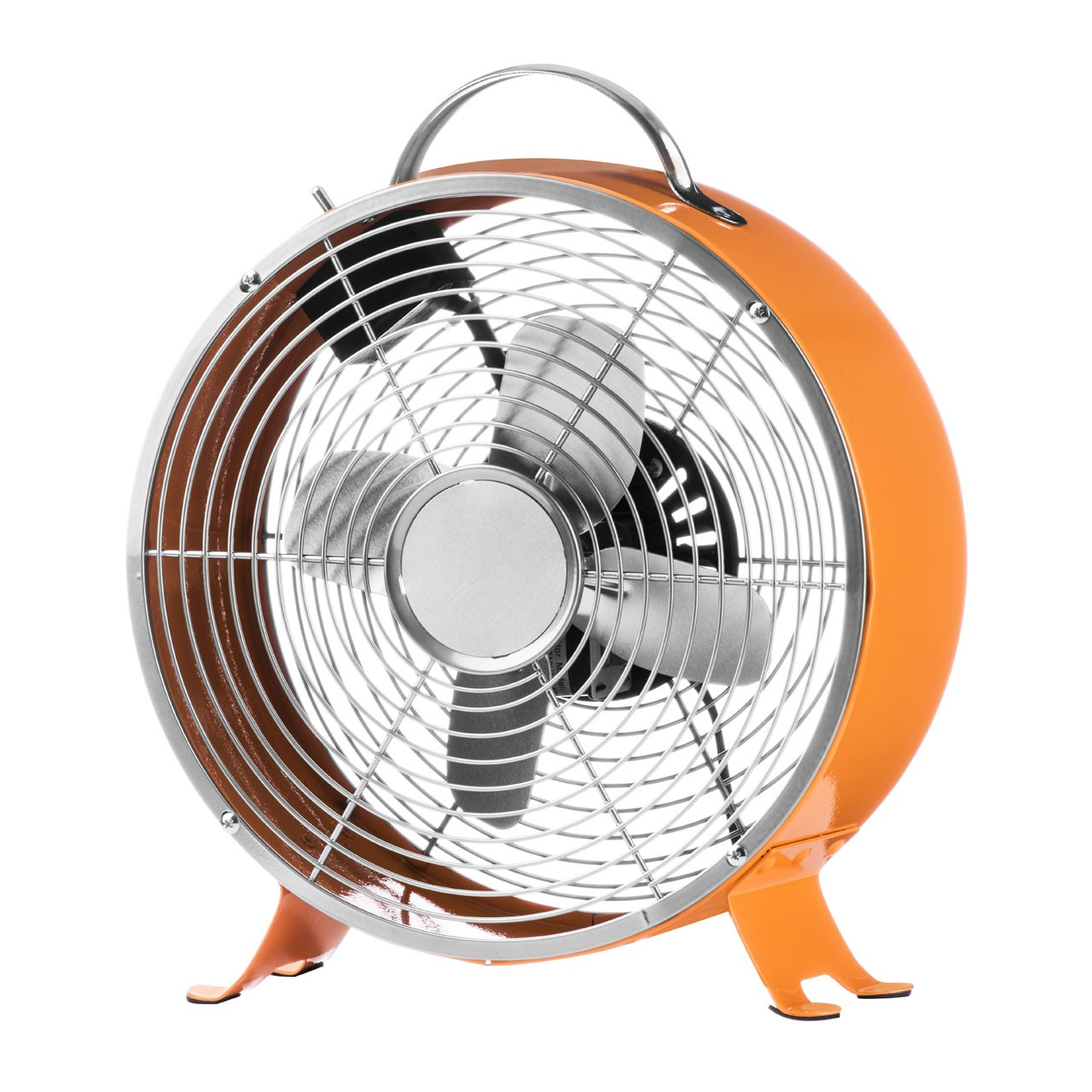 Retro Desk Fan with 2-Speeds, Orange