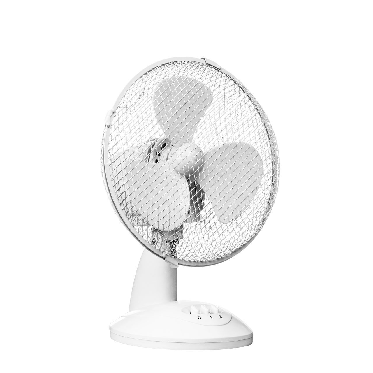 Desk Fan with 2-Speeds, White
