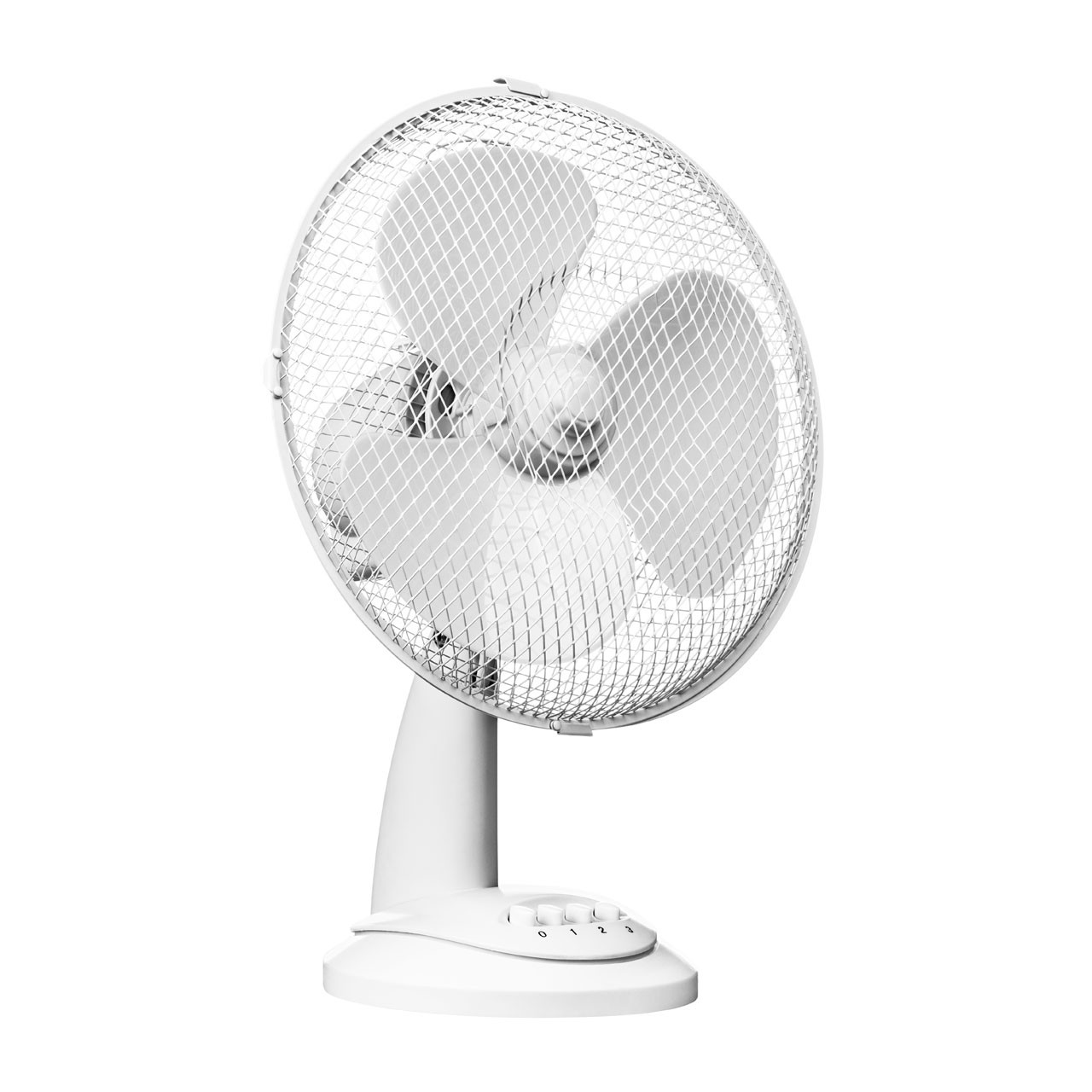 Desk Fan with 3 Speeds, White