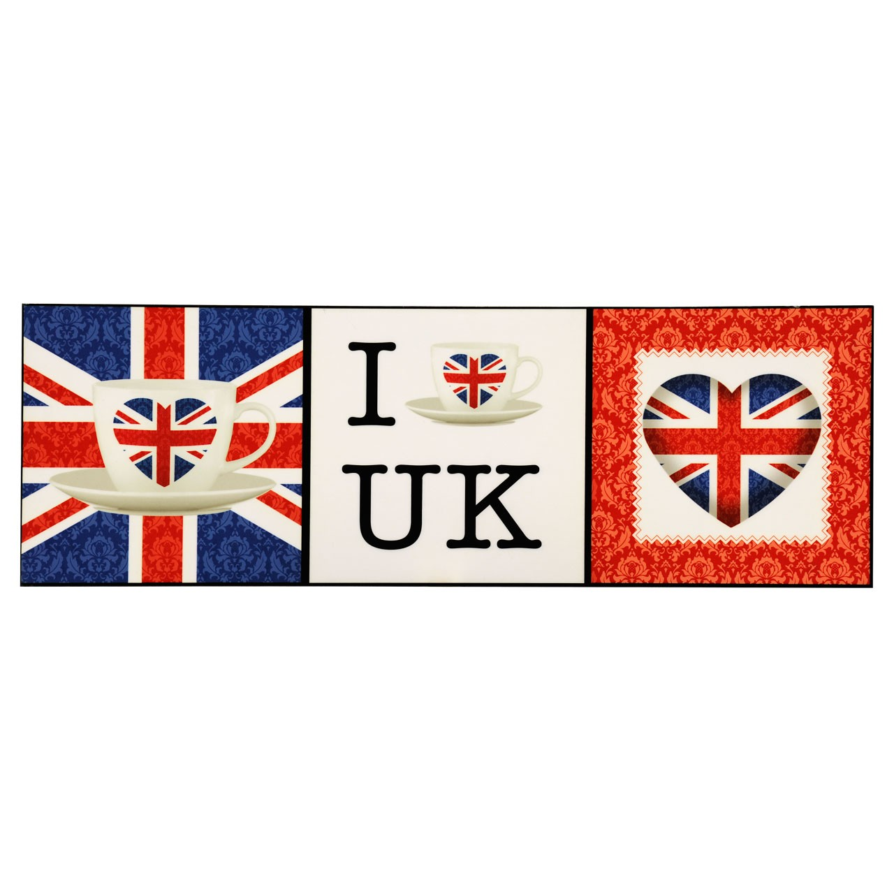 Wall Art, I Love UK, Lacquered Print