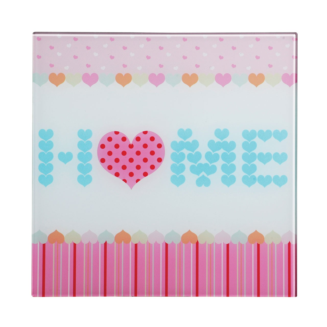 Premier Housewares Home Sweet Home-3 Glass Print - 30 x 30 cm