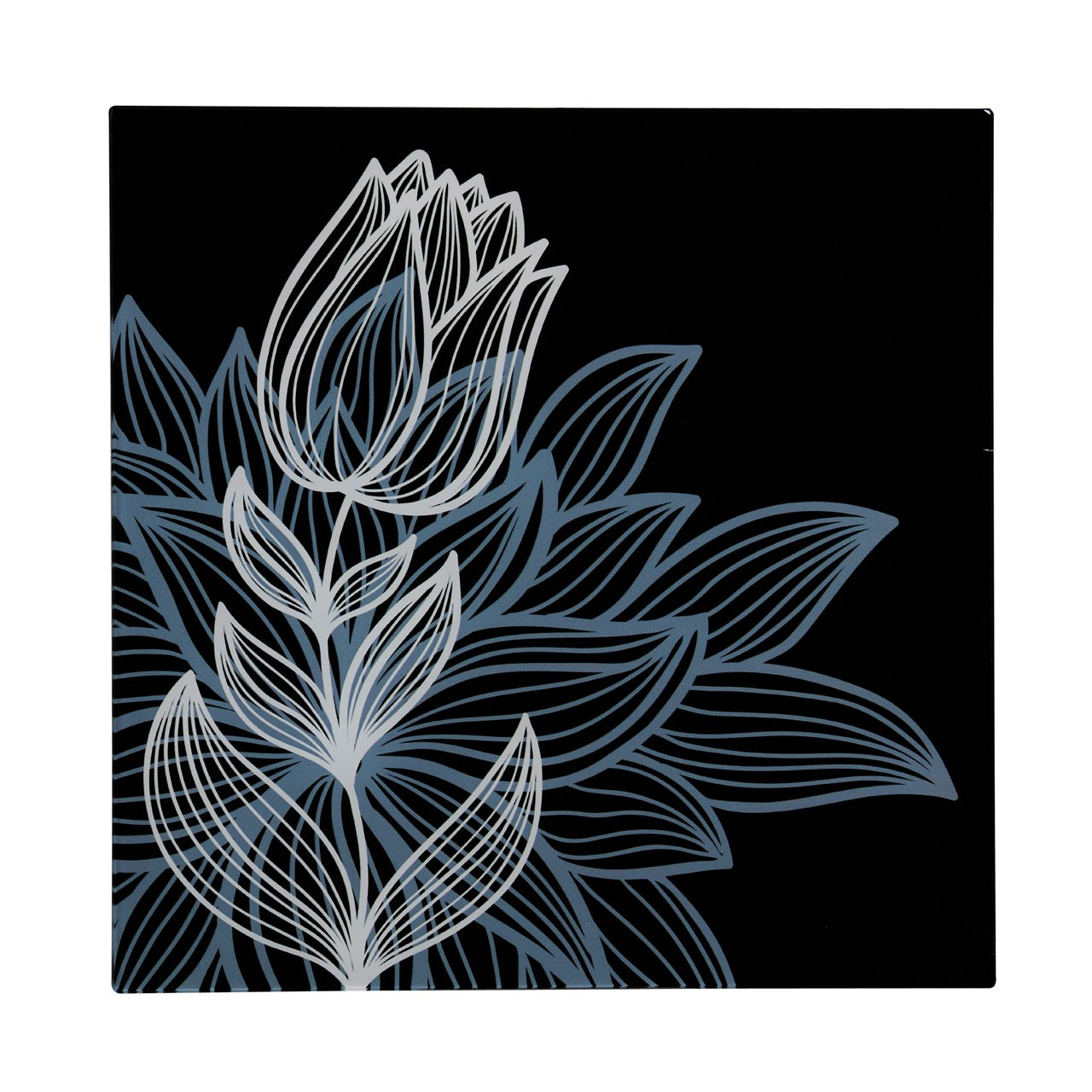 Premier Housewares Graphic Tulip-1 Glass Print - 30 x 30 cm